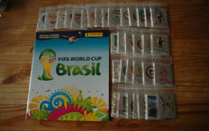 Panini - World Cup 2014 - Empty album with complete set of 640 loose stickers