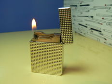 Dupont lighter, silver plated,diamond tips