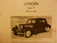 CITROEN 11 TRACTION AVANT 1945-1952 Olyslager automobile technical handbook