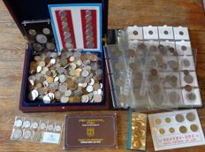 World - Batch various coins in sets, album and separate (approx. 5.8 kg)