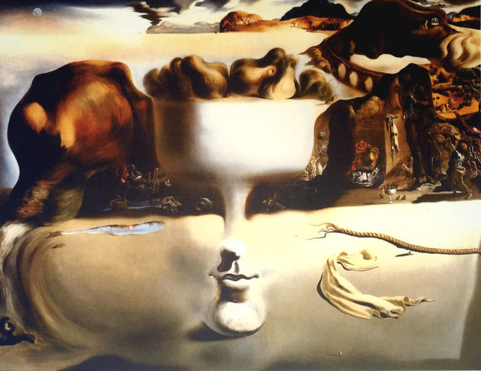 Salvador Dalí (after) - Apparition of Face and Fruit dish on a Beach