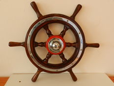 Vintage Wooden Ship's Wheel - Netherlands - first half 20th century