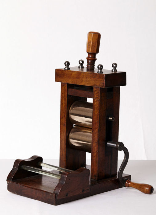 Laminating machine for food, France, 19th century.