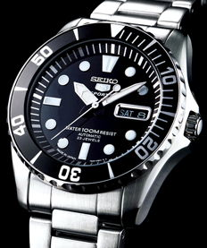 Seiko Automatic 23 jewels 'Black Dial' - Men's automatic watch