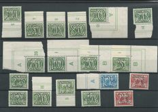 "The Netherlands 1940/1942 -  Number ""Guilloche"" and Legion blocks - NVPH 356/373 + 402B/403B"
