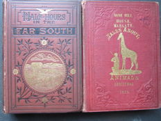 Lot of 2 books - Mammals in general and Animals in the Tropics - Illustrated textbooks - 1859/1878