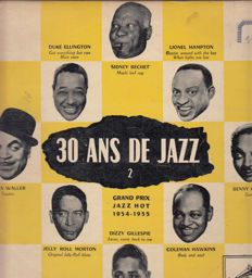 "My  Collection of ""10 Jazz & Other Records  - 20 Lp's  in  Good Condition : Django Reinhardt - Benny Goodman - Benny Vasseur - Tony Martin - Nat King Cole and others."