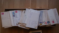 Large box with about 1500x circulated cards with Dutch stamps - 1960/2000