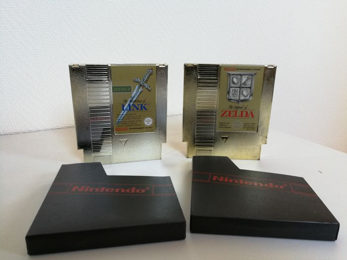 2x Zelda NES Games: The Legend of Zelda & The Adventures of Link