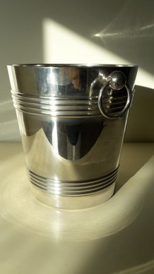 Silver plated ice bucket Art Deco Christofle