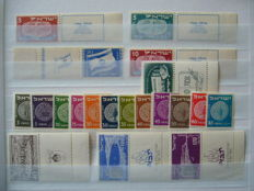 Israel 1948/2002 - Collection stamps with tab with blocks and sheets in stock book.