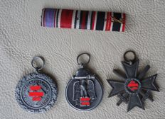 3 order with clasp / WW 2 / KVK, air defence medals, and East Medal