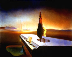 Salvador Dalí (after) - Necrophilic Fountain flowing from a grand Piano
