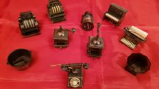 Beautiful lot of Ten Pencil Sharpeners in the shape of Antique Vintage Items (10)