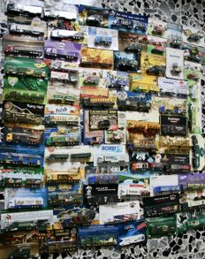 Original collection of 71 items - BREWERY TRUCKS in metal with adv metal signs
