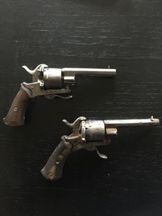 Two Lefaucheux pistols