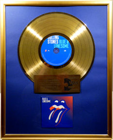 "The Rolling Stones - Blue and Lonesome - 12"" gold plated record with CD and cover by WWA gold Awards"