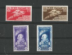 Kingdom of Italy, 1933-1935 - Two complete series, Aeronautics and Zeppelin - Sassone No.  S81 and S1508.