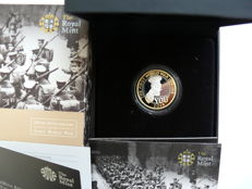 Great Britain - 2 Pounds 2014 '100 years from the Outbreak of the First World War' partially gold-plated - silver
