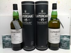 2 bottles - Laphroaig 15 years old (discontinued)