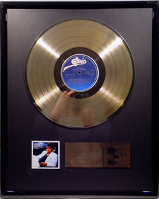 "Michael Jackson - Thriller -  12"" Epic record gold plated record by WWA Awards"