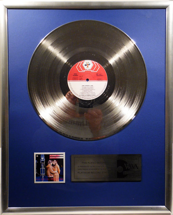 "Al Bano & Romina Power - Che Angelo Sei - 12"" Baby Record platinum plated record by WWA Awards"