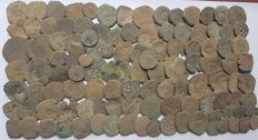 Spain - Lot of 110 coins from Spanish colonies of the house of Austria, 1500-1700 A.D. - Europe
