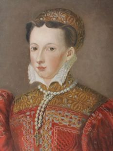 After Francois Clouet (1510-1572) - Portrait of Mary Queen of Scots
