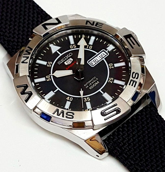 a3bbe1d4a156 Seiko Automatico 24 Jewels — 5 Sports 100M - Nuovo - Uomo - New men s watch