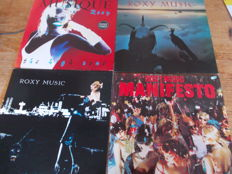 Nice Lot with 9 LP Albums of Roxy Music and Solo