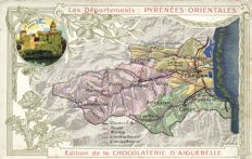 Maps on postcards 79 x - various places and countries, many from France-1900/1960