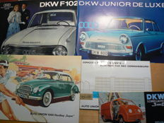8x Brochures folder lot DKW Auto Union