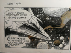 Barry, Dan - Flash Gordon  - Original Comic Art - Inked Strip - (1977)