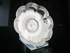 Prince Charles Investiture Silver Coin Dish - Wakely & Wheeler - London - 1968