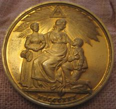 United Kingdom - Medal Masonic 1830 'Duke of Sussex' silver-gilt (9ct gold)