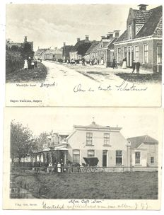 Lot with postcards of Dutch villages and towns, 82x