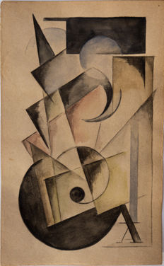 Unknown artist (European school) - Abstract cubo-futurist composition