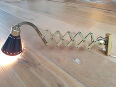 Designer unknown - Scissor lamp, brass wall lamp