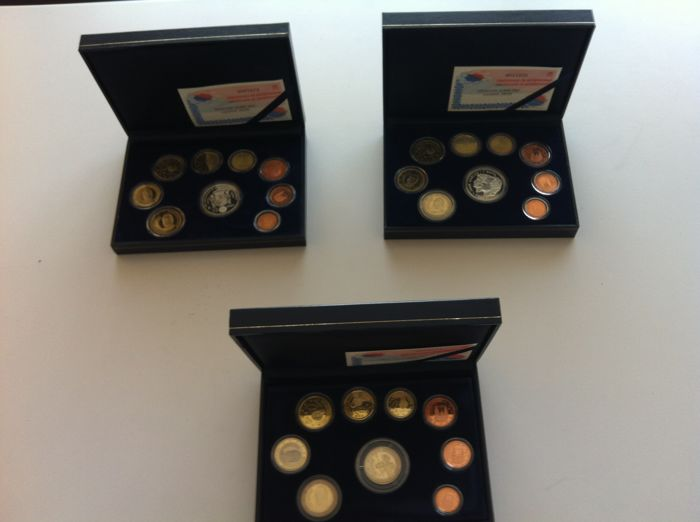 Spain - 3 cases BE Years 2002, 2003, 2005 with authenticity certificate