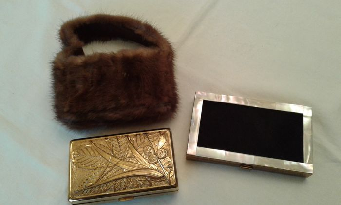 Two Charming Vintage 1940s/50s Kit including a Mink Case