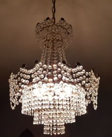 Rare and beautiful crystal chandelier from the 1950s