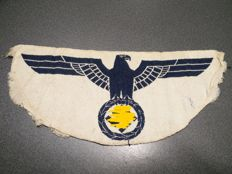 Germany linen sew on sports Eagle large size for Kriegsmarine - blue colour