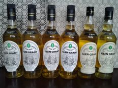 6 bottles - Glen Grant 1980 + 1981  + 1982 + 1983 - 75cl & 2x 5 years old - 70cl
