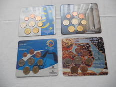 Greece - Year packs Euro coins 2003, 2004, 2011 and 2012