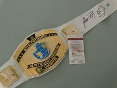 Ric Flair - Hand signature - WBA boxing belt - JSA Certificate of Authenticity