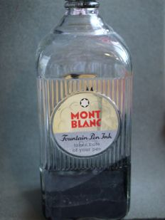 Large Montblanc ink bottle - 1950's - bakelite cap