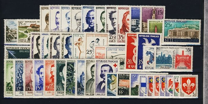 France 1958/1971 - 14 complete years - Yvert 1142 to 1701
