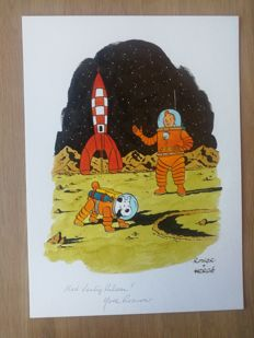 Rodier, Yves - Original watercolor art - Homage to Hergé - (2016)