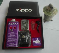 Zippo Anniversary lighter + W. Germany onyx table lighter