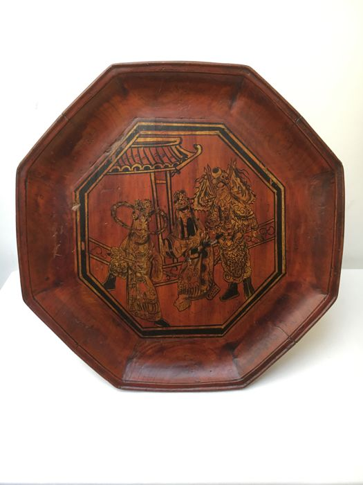 Hand Painted and signed tray – China – 19th century